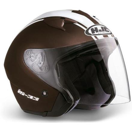 casque moto marron