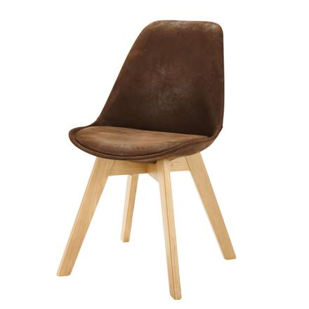chaise scandinave marron
