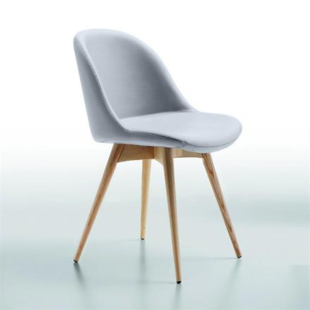 chaise scandinave simili cuir