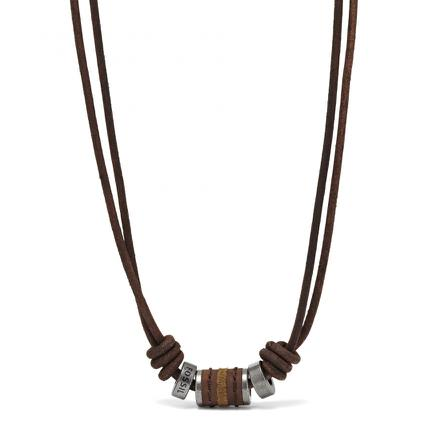 collier homme fossil