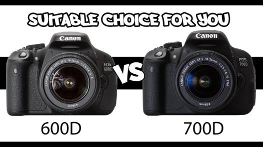 compare canon 600d and 700d