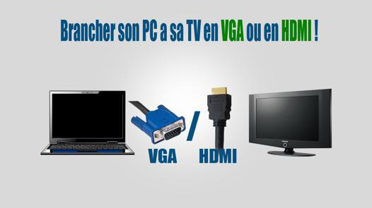 connection hdmi ordinateur tv