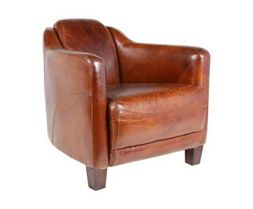 fauteuil cigare cuir