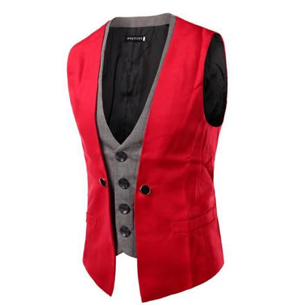 gilet costume homme rouge