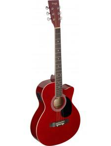 guitare electro acoustique rouge