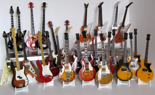 guitare miniature collection