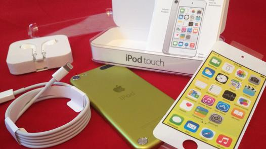 ipod touch 5 jaune