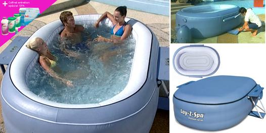 jacuzzi gonflable ovale