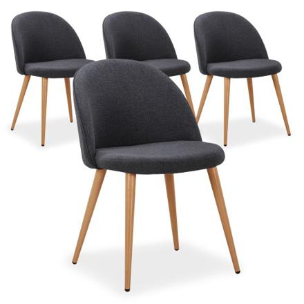 lot de 4 chaises scandinaves