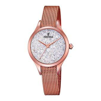 montre festina rose gold