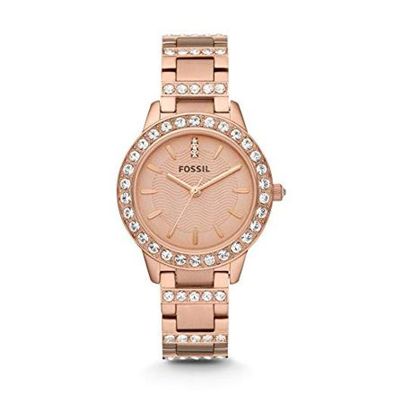 montre rose fossil