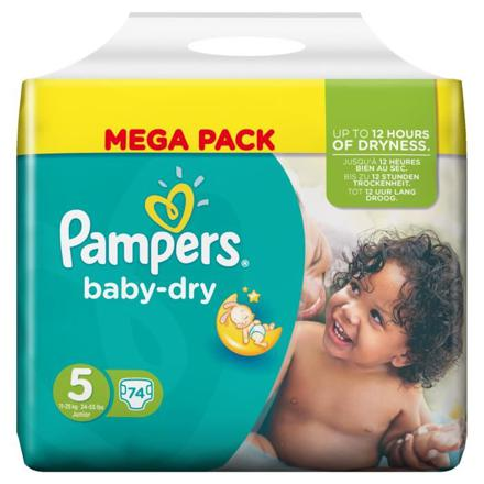 pampers baby dry taille 5
