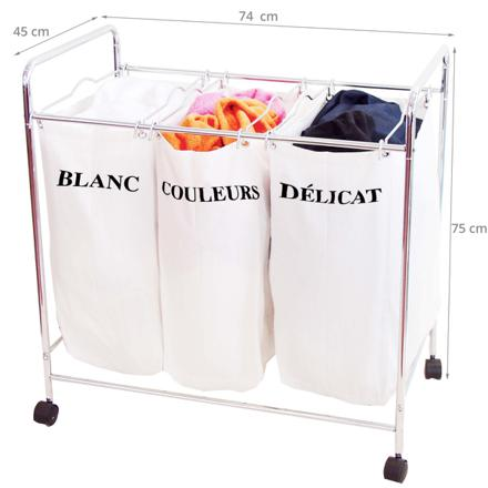 panier linge sale 3 compartiments