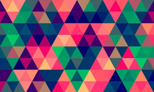 papier peint triangle multicolore